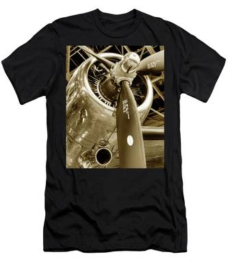 Stunning Propeller In Sepia Men's T-Shirt (Athletic Fit) by Dennis Dame
