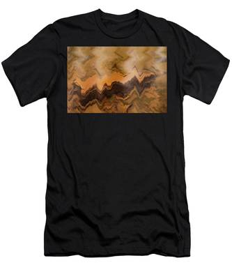 Men's T-Shirt (Athletic Fit) featuring the photograph Submerged Railroad Tie by Dennis Dame