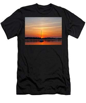 Summer Sunset At Anchor Men's T-Shirt (Athletic Fit)