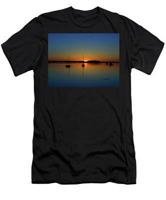 Summer Sunset Monument Beach Men's T-Shirt (Athletic Fit)
