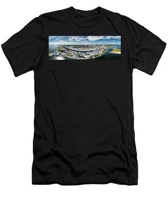 Summerfest Panorama Men's T-Shirt (Athletic Fit)