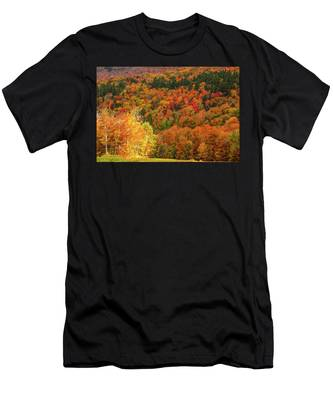 Men's T-Shirt (Athletic Fit) featuring the photograph Sun Peeking Through by Jeff Folger