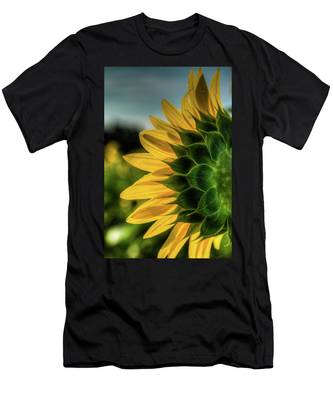 Sunflower Blooming Detailed Men's T-Shirt (Athletic Fit) by Dennis Dame