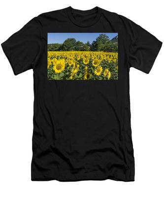 Men's T-Shirt (Athletic Fit) featuring the photograph Sunflowers Provence  by Juergen Held
