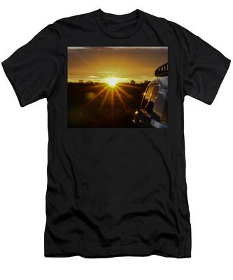Sunrise And My Ride Men's T-Shirt (Athletic Fit)