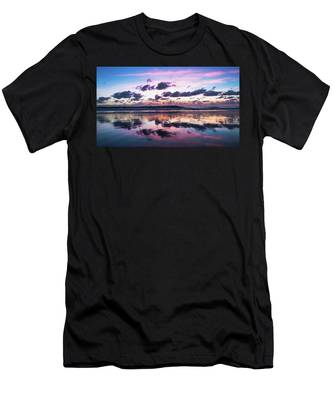 Sunrise Pink Wisps Delray Beach Florida Men's T-Shirt (Athletic Fit)