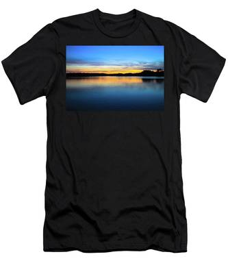 Men's T-Shirt (Athletic Fit) featuring the photograph Sunset At Stumpy Lake Virginia Beach by Ola Allen