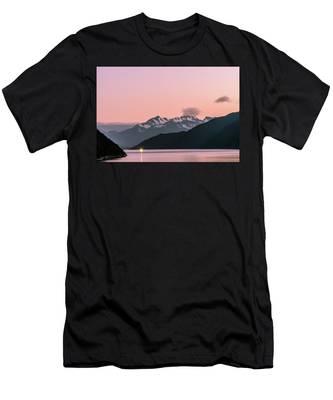 Sunset In Alaska Men's T-Shirt (Athletic Fit)