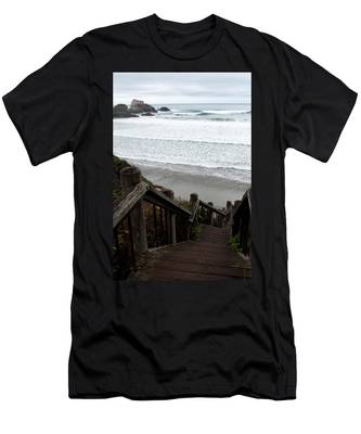 Surf Stairway Men's T-Shirt (Athletic Fit)