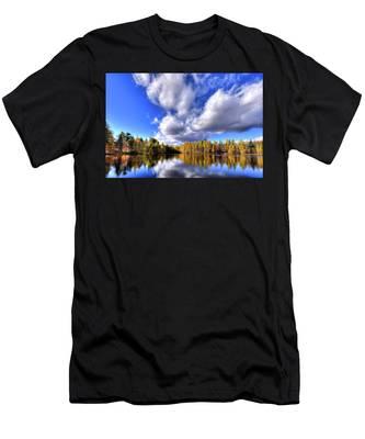 Tamarack Reflections In The Adirondacks Men's T-Shirt (Athletic Fit)