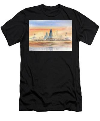 Temples In The Dusk Men's T-Shirt (Athletic Fit)
