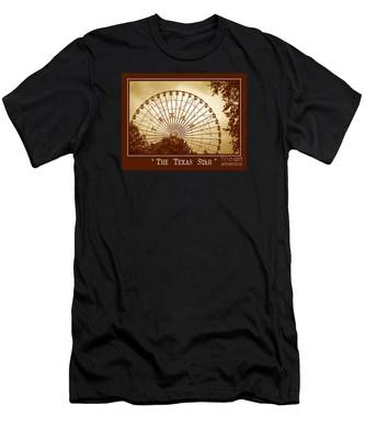 Texas Star In Gold Men's T-Shirt (Athletic Fit)