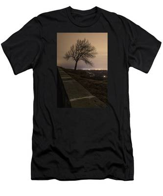Men's T-Shirt (Athletic Fit) featuring the photograph Thacher Park Twilight by Brad Wenskoski