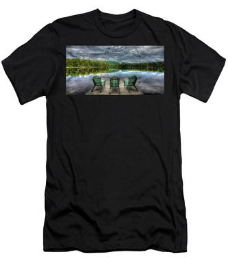 The Adirondack Mountains - Forever Wild Men's T-Shirt (Athletic Fit)