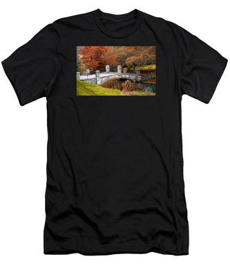 The Bridge To Autumn By Mike Hope Men's T-Shirt (Athletic Fit)