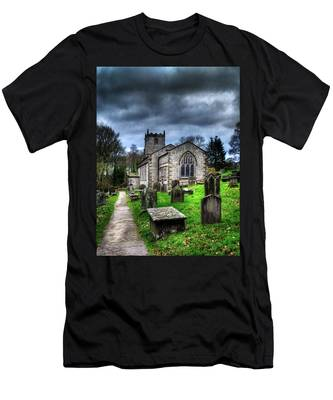 Men's T-Shirt (Athletic Fit) featuring the photograph The Fewston Church by Dennis Dame