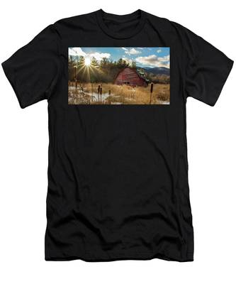 Men's T-Shirt (Athletic Fit) featuring the photograph The Last Winter by Brad Wenskoski