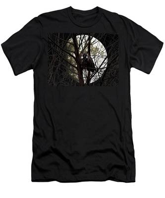The Night Owl And Harvest Moon Men's T-Shirt (Athletic Fit)