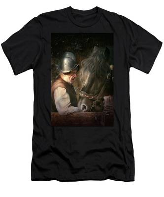 The Old Man And His Trusty Friend Men's T-Shirt (Athletic Fit)