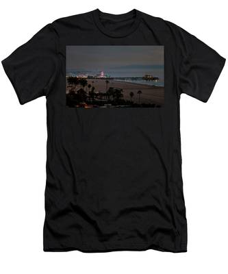 The Pier After Dark Men's T-Shirt (Athletic Fit)
