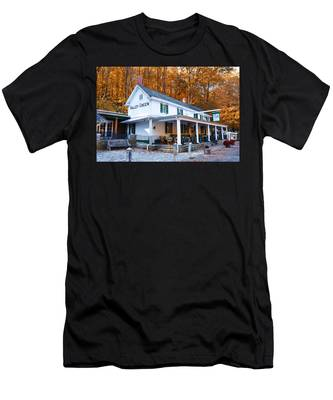 Men's T-Shirt (Athletic Fit) featuring the photograph The Valley Green Inn In Autumn by Bill Cannon