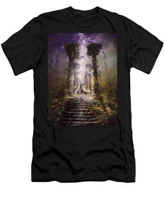 Thunderstorm Wizard Men's T-Shirt (Athletic Fit)