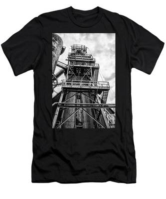Tower At Bethlehem Steel Men's T-Shirt (Athletic Fit) by Bill Cannon