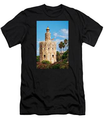 Tower Of Gold Men's T-Shirt (Athletic Fit)