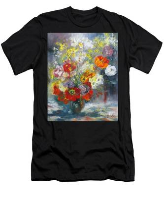 Tulips, Narcissus And Forsythia Men's T-Shirt (Athletic Fit)