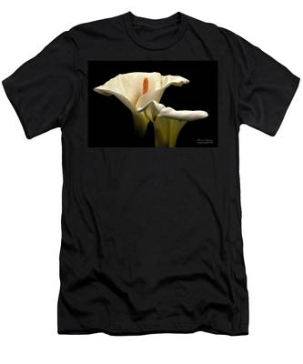Two Lilies Men's T-Shirt (Athletic Fit) by Howard Bagley