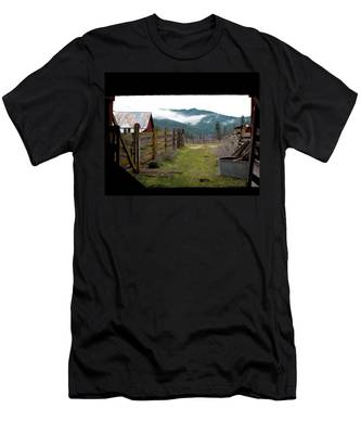 View From A Barn Men's T-Shirt (Athletic Fit)