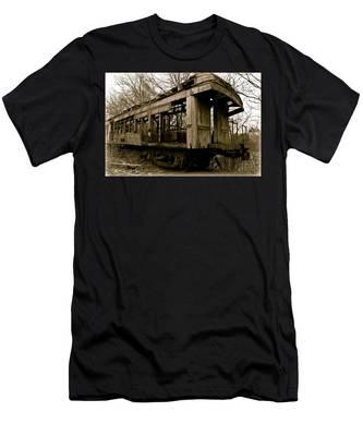 Vintage Train Men's T-Shirt (Athletic Fit)