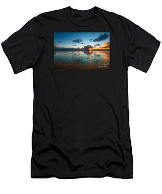 Wales Gower Coast Summer  Men's T-Shirt (Athletic Fit)