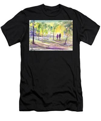 Walk Through The Woods Men's T-Shirt (Athletic Fit)