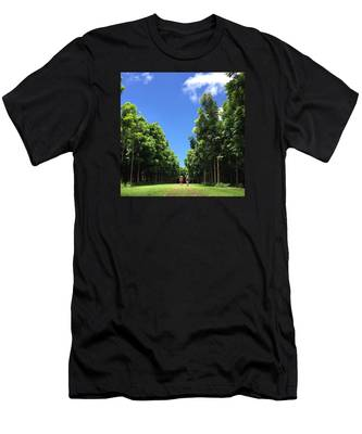 Walking Into The Woods Men's T-Shirt (Athletic Fit)
