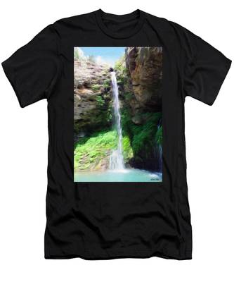 Waterfall 2 Men's T-Shirt (Athletic Fit)