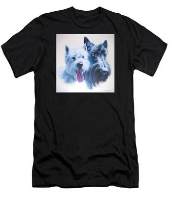 Westie And Scotty Dogs Men's T-Shirt (Athletic Fit)