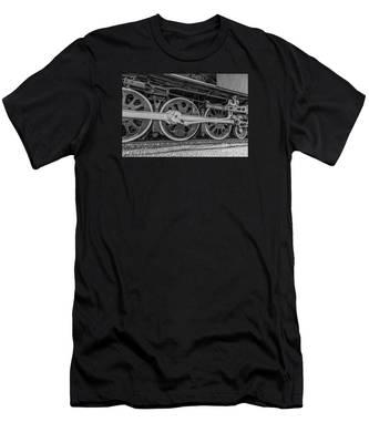 Wheels On A Locomotive Men's T-Shirt (Athletic Fit)
