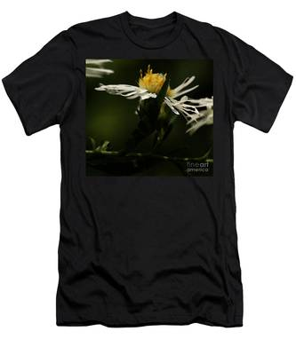 White Aster Men's T-Shirt (Athletic Fit)