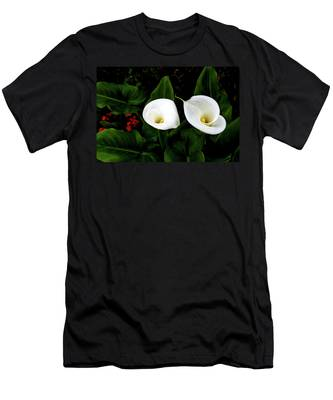White Calla Lily Men's T-Shirt (Athletic Fit)