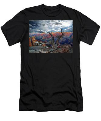 Yaki Point Grand Canyon Men's T-Shirt (Athletic Fit)