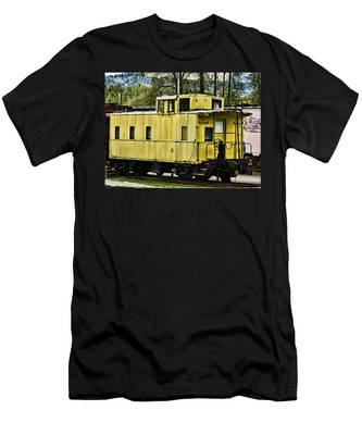 Yellow Caboose Men's T-Shirt (Athletic Fit)