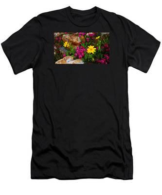 Yosemite Wildflowers Men's T-Shirt (Athletic Fit)