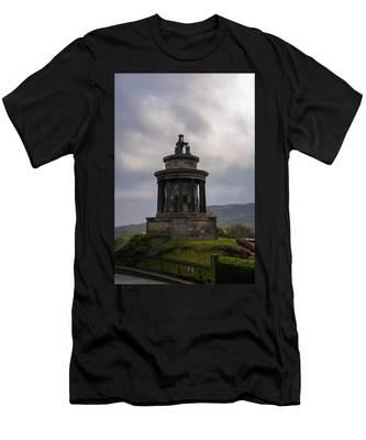 Burns Monument - Edinburgh Scotland Men's T-Shirt (Athletic Fit) by Bill Cannon
