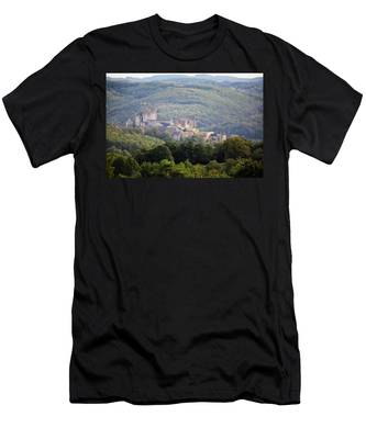 Chateau Beynac, France Men's T-Shirt (Athletic Fit)