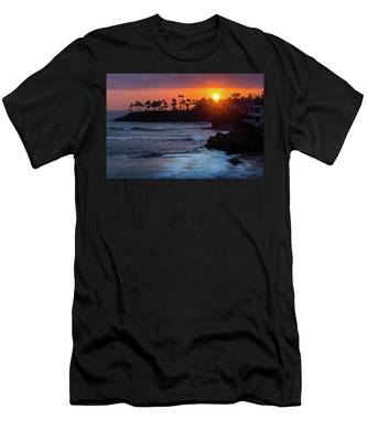 Colorful Laguna Beach Sunset Men's T-Shirt (Athletic Fit)