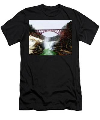 Frletchworth Railroad And Falls Men's T-Shirt (Athletic Fit)