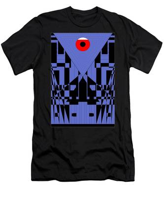Geometric Red Dot  Men's T-Shirt (Athletic Fit)