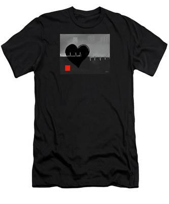 Men's T-Shirt (Athletic Fit) featuring the digital art Heartbroken by Teresa Epps