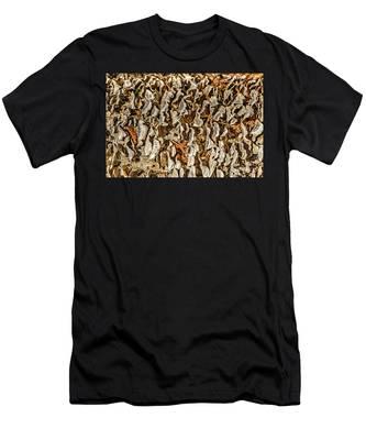 Turkey Tailed Bracket Fungi Men's T-Shirt (Athletic Fit)